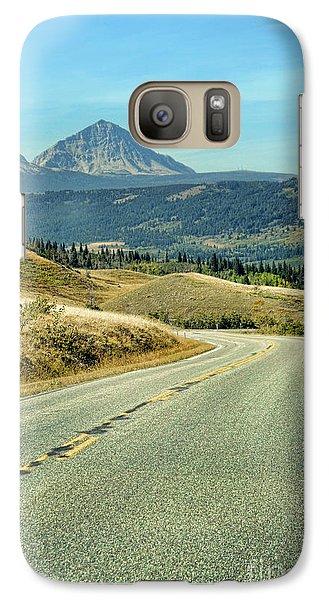 Galaxy Case featuring the photograph Montana Road by Jill Battaglia