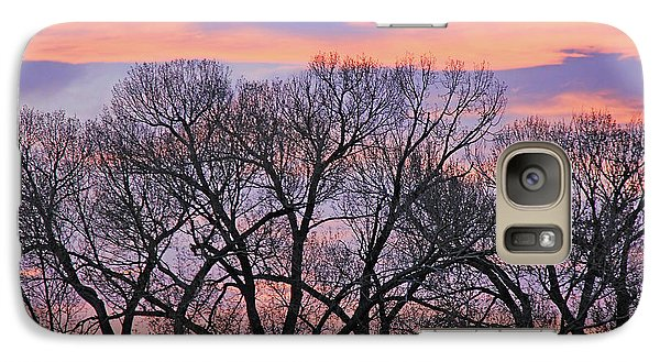 Galaxy Case featuring the photograph Montana Sunrise Tree Silhouette by Jennie Marie Schell