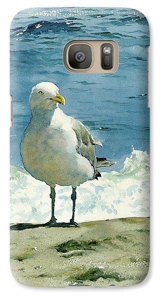 Seagull Galaxy S7 Case - Montauk Gull by Tom Hedderich