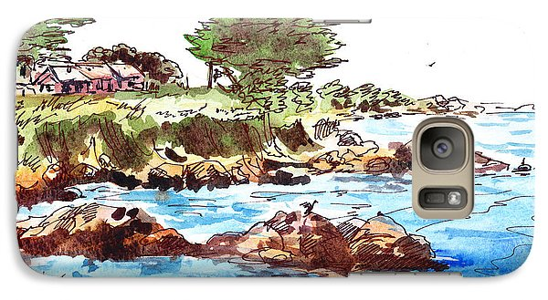 Galaxy Case featuring the painting Monterey Shore by Irina Sztukowski