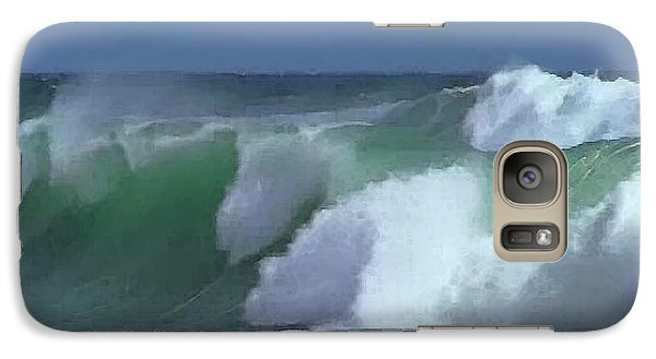 Galaxy Case featuring the digital art Monterey Surf by Walter Chamberlain