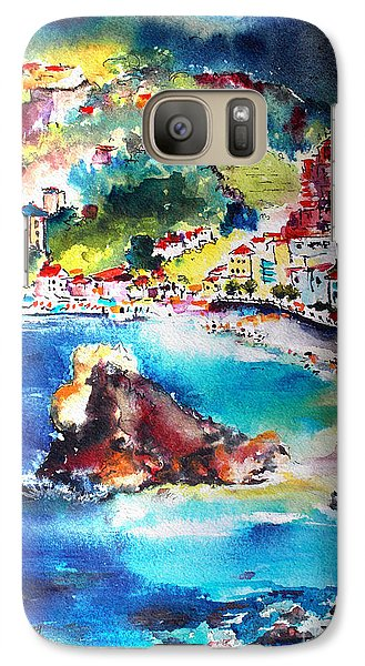 Galaxy Case featuring the painting Monterosso  Cinque Terre Italy  by Ginette Callaway