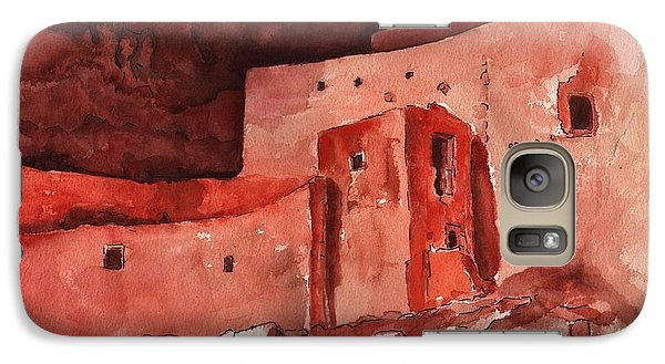 Galaxy Case featuring the painting Montezuma's Castle by Sharon Mick