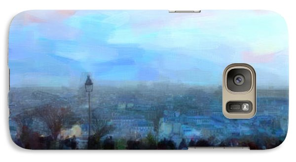 Galaxy Case featuring the painting Montmartre From The Butte by Chris Armytage