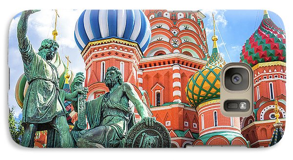 Galaxy Case featuring the photograph Monument To Minin And Pozharsky by Delphimages Photo Creations