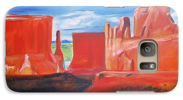Galaxy Case featuring the painting Monument Valley  by Eric  Schiabor