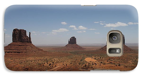 Galaxy Case featuring the photograph Monument Valley Navajo Park by Christopher Kirby