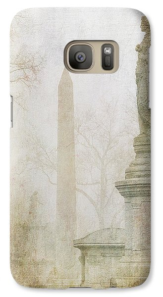Galaxy Case featuring the photograph Monumental Fog by Heidi Hermes