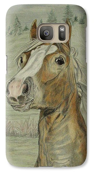 Galaxy Case featuring the drawing Mony by Melita Safran