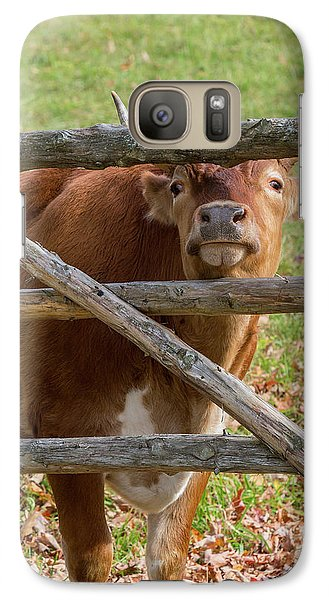 Galaxy S7 Case featuring the photograph Moo by Bill Wakeley