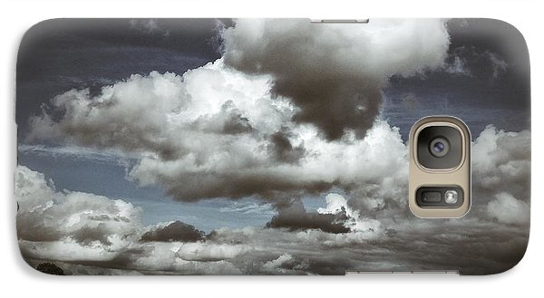 Galaxy Case featuring the photograph Moodiness In The Clouds by Karen Stahlros