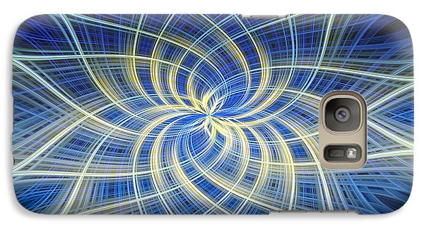 Galaxy Case featuring the digital art Moody Blue by Carolyn Marshall