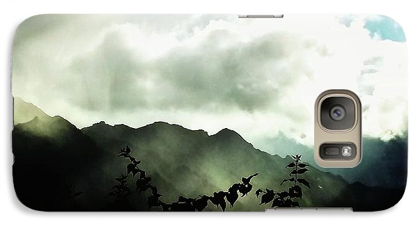 Galaxy Case featuring the photograph Moody Weather by Mimulux patricia no No