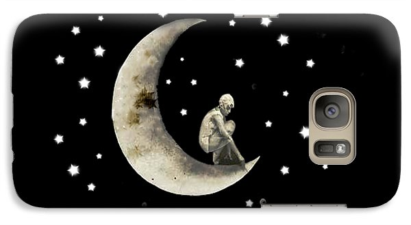 Moon And Stars T Shirt Design Galaxy S7 Case