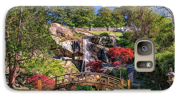 Galaxy Case featuring the photograph Moon Bridge And Maymont Falls by Rick Berk