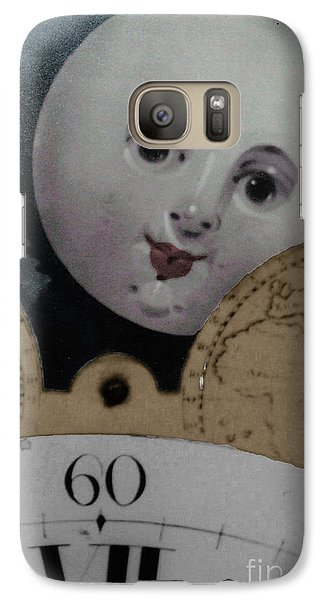 Galaxy Case featuring the photograph Moon Face by Lyric Lucas