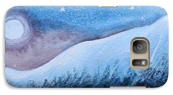 Galaxy Case featuring the painting Moon Glow by Margaret Bobb