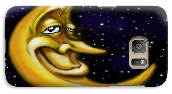 Galaxy Case featuring the painting Moon by Kevin Middleton