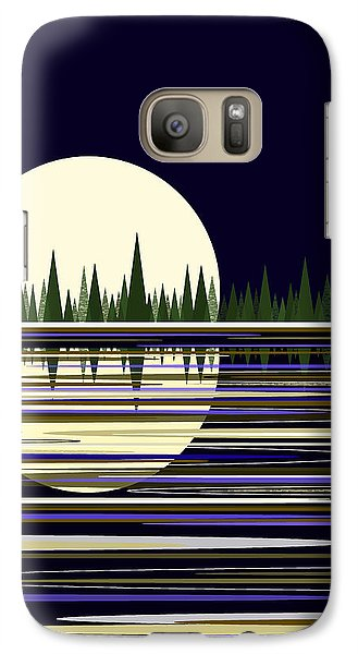 Galaxy Case featuring the digital art Moon Lit Water by Val Arie