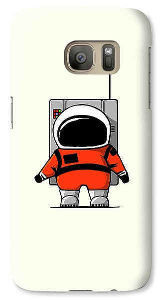 Science Fiction Galaxy S7 Case - Moon Man by Nicholas Ely
