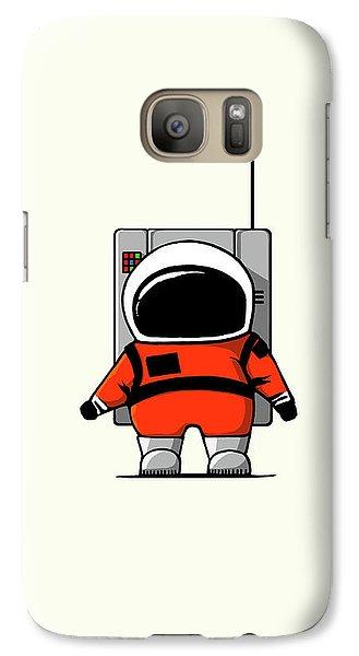 Astronaut Galaxy S7 Case - Moon Man by Nicholas Ely