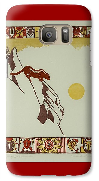 Galaxy Case featuring the drawing Moon Of Red Chokecherries by Dawn Senior-Trask