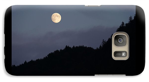 Galaxy Case featuring the photograph Moon Over Hill by Menega Sabidussi
