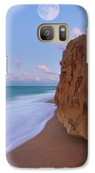 Galaxy Case featuring the photograph Moon Over Hutchinson Island Beach by Justin Kelefas