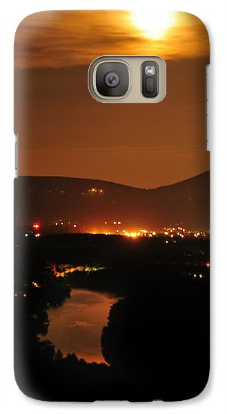 Galaxy Case featuring the photograph Moon Over Shenandoah by Lara Ellis