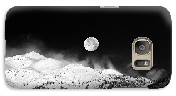 Moon Over The Alps Galaxy S7 Case by Silvia Ganora