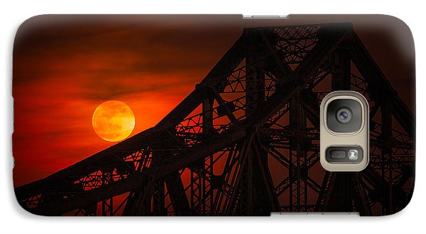 Moon Over The Bridge Galaxy S7 Case