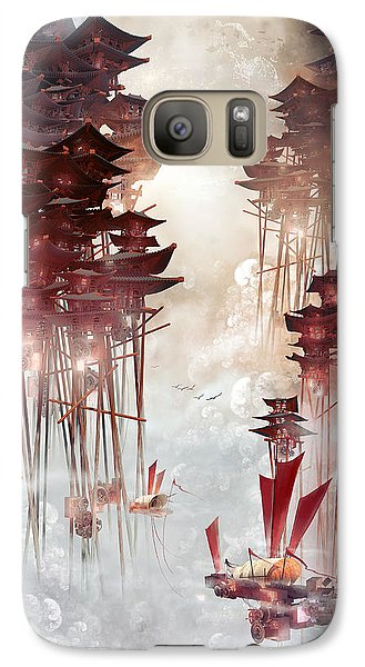 Galaxy Case featuring the digital art Moon Palace by Te Hu