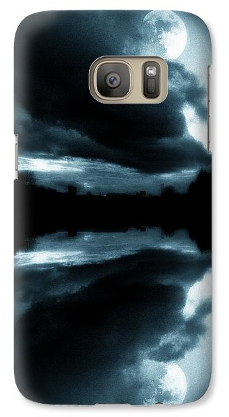 Galaxy Case featuring the photograph Moon Rising by Aaron Berg