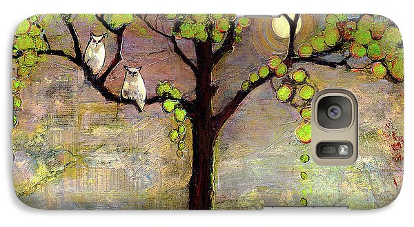 Moon River Tree Owls Art Galaxy S7 Case