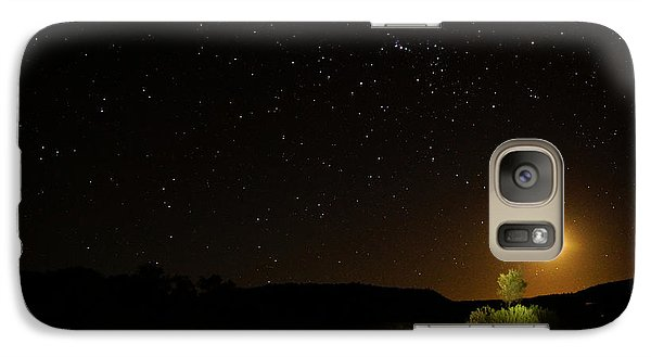 Galaxy Case featuring the photograph Moon Set Over Palm Valley by Paul Svensen