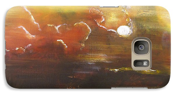 Galaxy Case featuring the painting Moon Shadows by Gary Smith