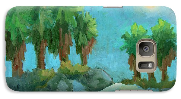 Galaxy Case featuring the painting Moon Shadows Indian Canyon by Diane McClary