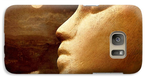 Galaxy Case featuring the photograph Moonface by Jeff  Gettis