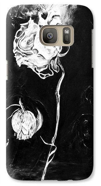 Galaxy Case featuring the painting Moonlight And Roses by Nadine Dennis