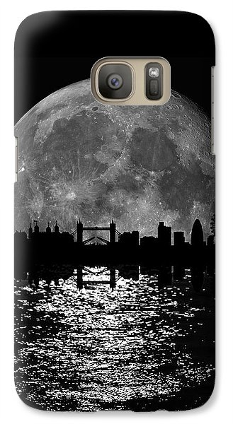 Moonlight London Skyline Galaxy Case by Mark Rogan