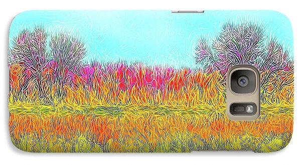 Galaxy Case featuring the digital art Moonlight On Golden Fields - Boulder County Colorado by Joel Bruce Wallach
