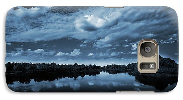 Landscapes Galaxy S7 Case - Moonlight Over A Lake by Jaroslaw Grudzinski