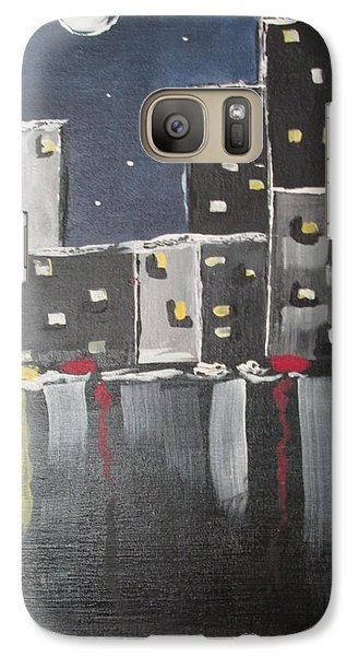 Galaxy Case featuring the painting Moonlighters by Sharyn Winters