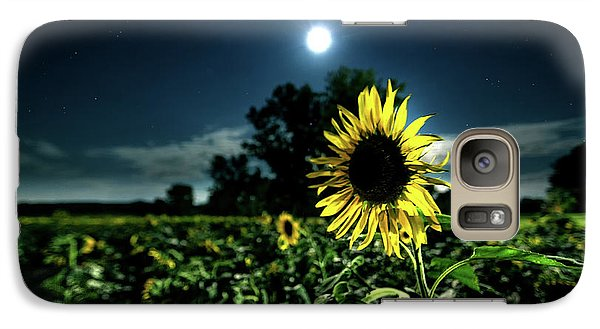 Galaxy Case featuring the photograph Moonlighting Sunflower by Everet Regal