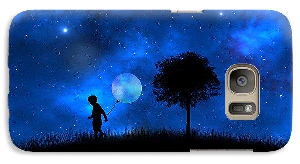 Galaxy Case featuring the digital art Moonlight Shadow by Bernd Hau