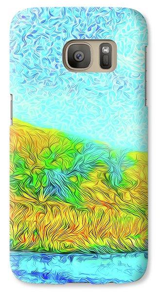 Galaxy Case featuring the digital art Moonlit Island Blue - Boulder County Colorado by Joel Bruce Wallach