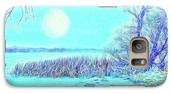 Galaxy Case featuring the digital art Moonlit Lake In Blue - Boulder County Colorado by Joel Bruce Wallach
