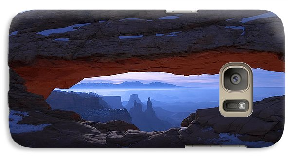 Mountain Galaxy S7 Case - Moonlit Mesa by Chad Dutson