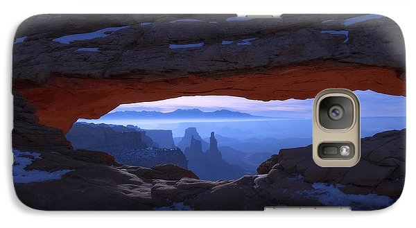 Galaxy Case featuring the photograph Moonlit Mesa by Chad Dutson