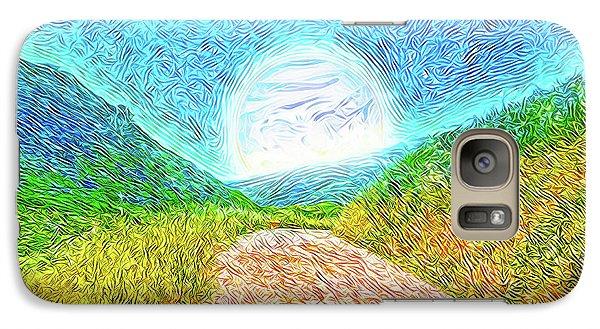 Galaxy Case featuring the digital art Moonlit Path - Marin California Trail by Joel Bruce Wallach
